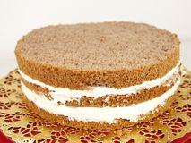 Cream layer cake Stock Images