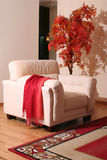 Cream leather furniture Royalty Free Stock Photo