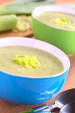 Cream of Leek Soup Stock Images