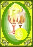 Cream_lemon Royalty Free Stock Photos