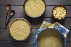 Cream of Lentil Soup Stock Photo