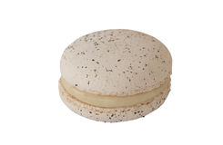Cream Macaroon , Macaron on white. Cream Macaron , Macaroon on white royalty free stock image