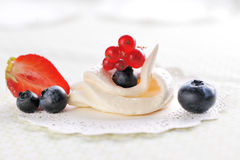 Cream meringues Stock Image