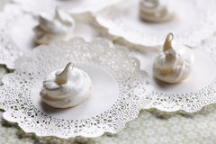 Cream meringues Royalty Free Stock Photography