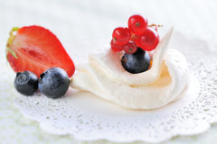 Cream meringues Royalty Free Stock Images