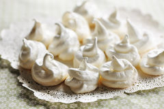 Cream meringues Royalty Free Stock Image