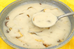 Cream of mushroom soup Stock Photos