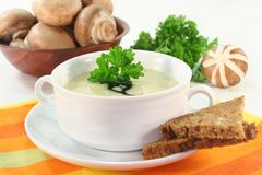 Cream of mushroom soup Stock Photography