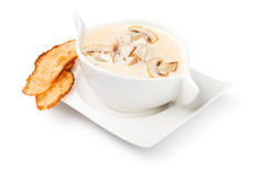 Cream of mushroom soup Royalty Free Stock Photography