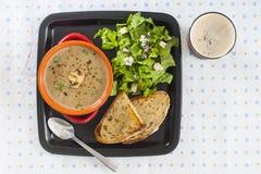 Cream of mushroom soup. Royalty Free Stock Photography