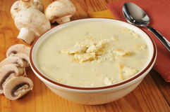 Cream of mushtoom soup Stock Photography