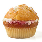 Cream n raspberry muffin Royalty Free Stock Image