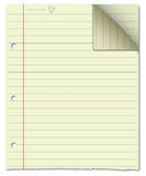 Cream notepad Stock Photography