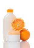 Cream with orange Royalty Free Stock Photography