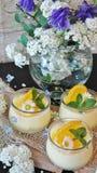 Cream, Orange Cream, Oranges Royalty Free Stock Photography