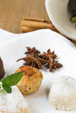 Cream and pastries, typical Christmas sweets in Spain Royalty Free Stock Photography