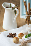 Cream and pastries, typical Christmas sweets in Spain Stock Photos