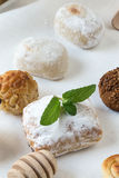 Cream and pastries, typical Christmas sweets in Spain Royalty Free Stock Images