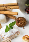 Cream and pastries, typical Christmas sweets in Spain Stock Images