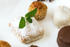 Cream and pastries, typical Christmas sweets in Spain Royalty Free Stock Image