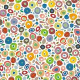 Cream pattern with colorful dots. stock illustration
