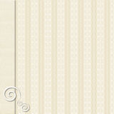 Cream patterned paper background Stock Photos