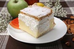 Cream pie. Cake vanilla cream , and decoration Stock Images