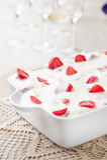 Cream pie and strawberries Stock Image