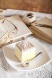 Cream pie Stock Photography
