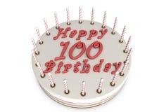 Cream pie for 100th birthday Stock Photography