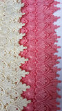 Cream and pink lace Stock Image
