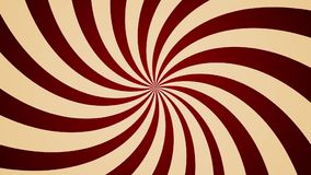 Cream pinwheel rotating CCW abstract background Vintage style seamless loop stock video