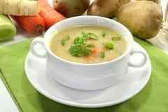 Cream of potato soup Stock Photography