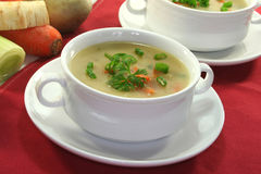 Cream of potato soup Stock Photo