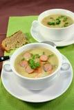 Cream of potato soup Stock Images