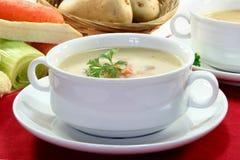 Cream of potato soup Royalty Free Stock Image