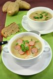 Cream of potato soup Royalty Free Stock Photography