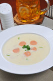 Cream of potato soup Stock Images
