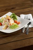 Cream prawn. A plate of delicate creamy prawn ready to be served Royalty Free Stock Photo