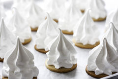 Cream puff. A lot of homemade cream puff Stock Photography