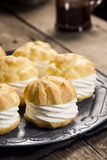 Cream Puff Pastries or Profiteroles Royalty Free Stock Image