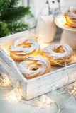 Cream puff rings (choux pastry) Stock Images