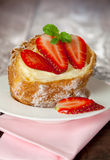 Cream Puff With Pudding Royalty Free Stock Photos