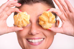 Cream puffs Stock Photo