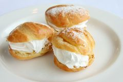 Cream puffs Royalty Free Stock Photos