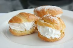 Cream puffs Stock Photography