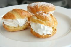Cream puffs Royalty Free Stock Image
