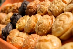 Cream puffs aka profiterole Royalty Free Stock Photography