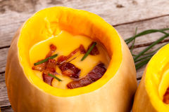 Cream Of Pumpkin Soup Stock Image