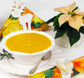 Cream of pumpkin soup Stock Photography